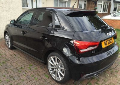Audi A1 Black 5 Door 2015 Window Tinting