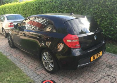 BMW 1 Series Black 2009 Window Tinting