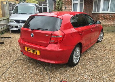 BMW 1 Series Red 2009 Window Tinting