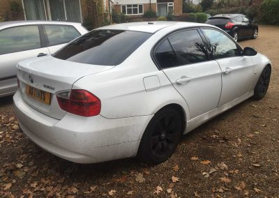 BMW 3 Series E90 White 2006 Window Tinting