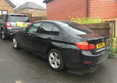 BMW 3 Series F30 Black 2014 Window Tinting
