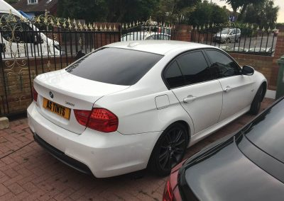 BMW 3 Series White window_tinting_surrey