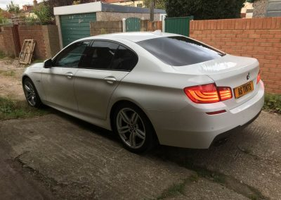 BMW 5 Series White M Sport window_tinting_surrey