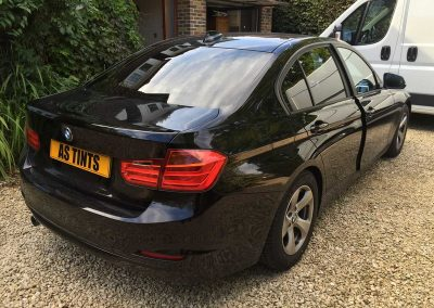 BMW F30 3 Series Black 2012 Window Tinting