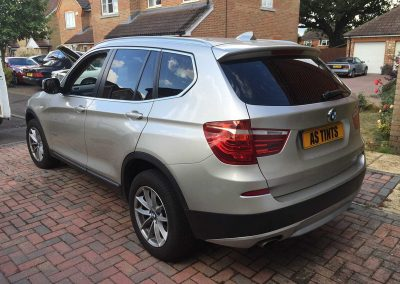 BMW X3 Gold 2013 Window Tinting