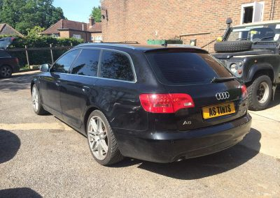 Black Audi A6 Estate