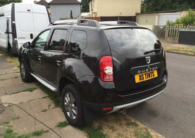 Dacia Duster Black 2008 Window Tinting