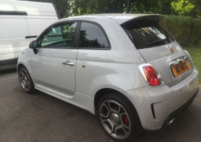 Fiat 500 Arbarth Grey 2014 Window Tinting