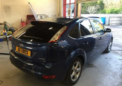 Ford Focus Blue 2008 Window Tinting