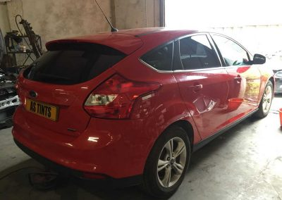 Ford Focus Red 2013 Window Tinting