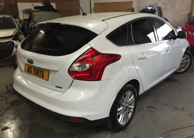 Ford Focus White White 2013 Window Tinting