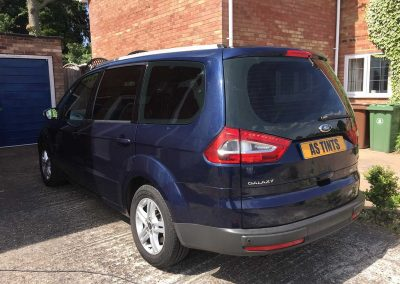 Ford Galaxy Dark Blue 2010 Window Tinting