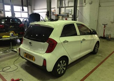 Kia Picanto White 2015 Window Tinting
