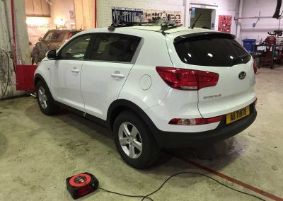 Kia Sportage White 2015 Window Tinting