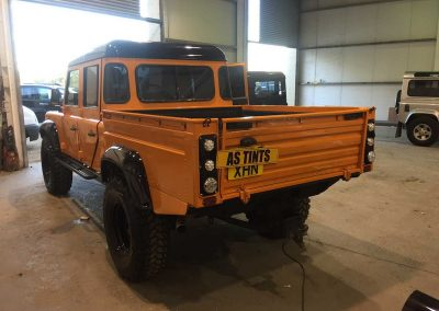 Land Rover Defender Double Cab Orange Window Tinting