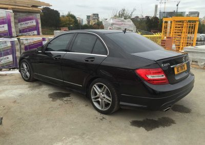 Mercedes Benz C Class Black 2013 Window Tinting