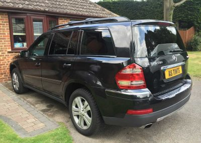 Mercedes Benz GL Black 2011 Window Tinting