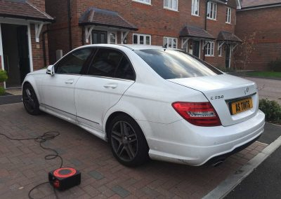 Mercedes C Class White 2013 Window Tinting
