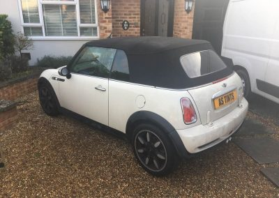 Mini Convertible window_tinting_surrey