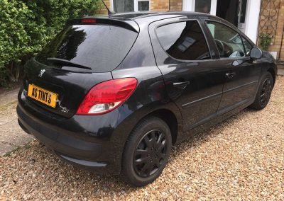 Peugeot 207 Black 2007 Window Tinting