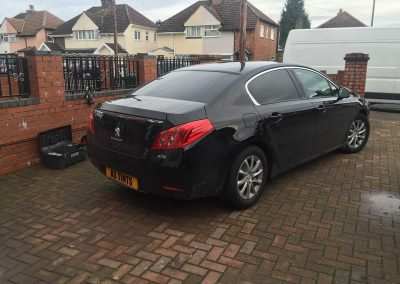 Peugeot 508 Black 2011 Window Tinting