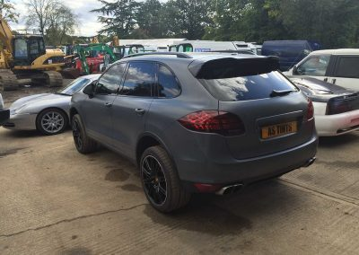Porsche Cayenne Grey 2014 Window Tinting