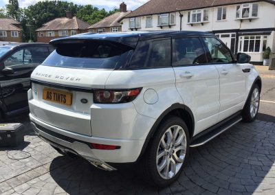 Range Rover Evoque White 2015 Window Tinting