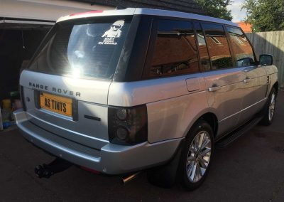Range Rover Vogue Silver 2007 Window Tinting