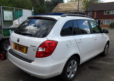 SKODA FABIA ESTATE WHITE