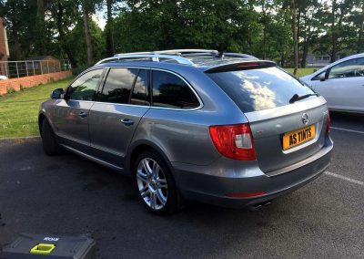 SKODA SUPERB ESTATE GREY