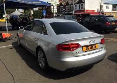 Silver Audi A4