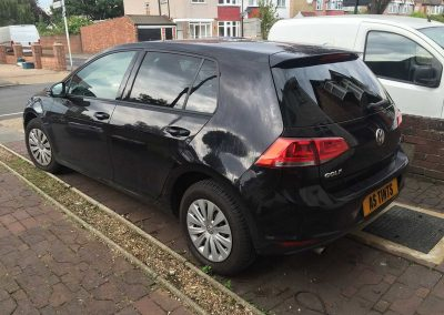 VW Golf Black 2015 Window Tinting