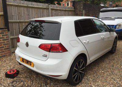 VW Golf White 2015 Window Tinting