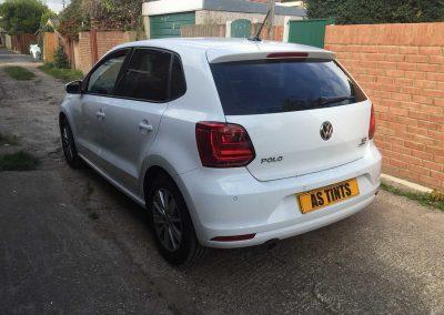VW Polo White 2015 Window Tinting