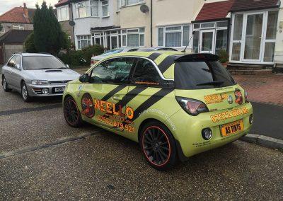 Vauxhall Adam Green 2015 Window Tinting