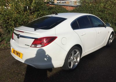 Vauxhall Insignia White 2014 Window Tinting