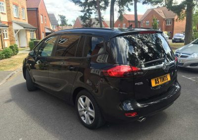 Vauxhall Zafira Black 2015 Window Tinting