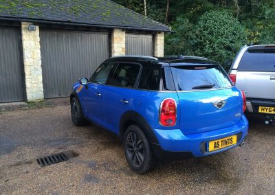 window_tinting Blue Mini Countryman