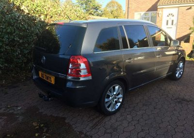 window_tinting Grey Vauxhall Zafira