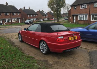 window_tinting Red 3 Series Convertiable