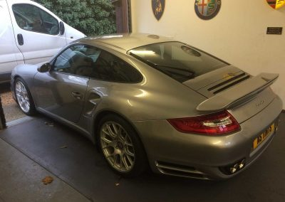 window_tinting Silver Porsche 997