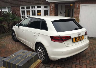 window_tinting White 2014 Audi A3